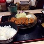 松乃家 - 朝定食のロースカツ定食
