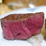 銀座 ひらやま - 黒毛和牛フィレステーキ