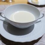 銀座 ひらやま - 聖護院蕪のクリームスープ