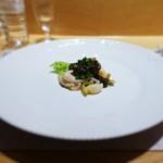 銀座 ひらやま - 鮑の冷しゃぶ、キャビアのソース