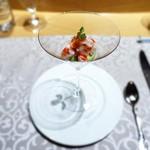 銀座 ひらやま - 才巻海老のカクテル  アボカドのムース