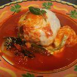 ミスターシーホース - 料理写真:ハンバーグステーキ・イタリアン(ライス付)1020円(税込) チーズ風味で、トマトの酸味がまろやかに。トマトソースはそのままならしっかりと酸味・旨みも楽しめます。