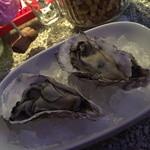 Oisutabaandoakuariumuranchuu - 仲見世ハシゴしナイト(1品と1杯で750円相当)の生牡蠣・兵庫県産2016年2月