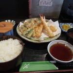 天ぷら なが田 - 天婦羅定食1520円