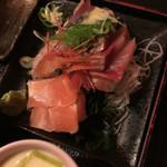 一歩 - おまかせ定食(1200円)刺身