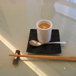 金田中 草 - 絹流し豆腐、おぼろ豆腐、豆乳醤油、生姜