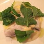 osteria quinto - 旬の真鱈とジャガイモのボイル アンチョビ風味のアイオリソース