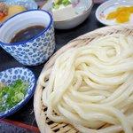 手打ちうどん 富貴 - 料理写真:ざるうどん定食(日替わり)