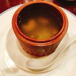 萬珍樓 - つぶ貝とふかひれの蒸しスープ