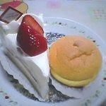 48424 - ホワイトショートケーキ&パッションフルーツのスフレ