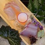 Kissui - お造里 旬の鮮魚(鯛・カンパチ)