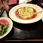 カフェ ジャンシアーヌ - あんかけスパ、レギュラー、950円。