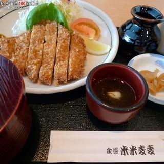 米米麦麦 - 料理写真:黒豚とんかつ膳