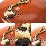 48000645 - 【玉葱】竹墨の「黒」と玉ねぎの「白」のコントラストが素敵