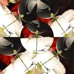 48000651 - 【始まりの一杯】←抹茶と菜の花の一杯でした!!菜の花の微かな苦みと抹茶の甘味がコラボした一杯で独創的です。