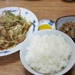 岩はし - 野菜炒め定食(700円)です。