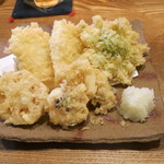 48001234 - スミイカと野菜の天ぷら