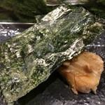 日本橋 寿司金 - 穴子 富津の海苔と