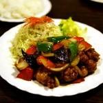 鳥心 - 料理写真:鳥辛子炒め