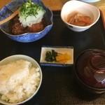 柿の里 - 鶏のから揚げおろし定食¥800