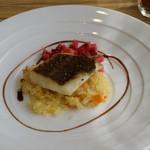 La Cuisine Japonaise 玻璃 - メイン料理、魚か肉かから選べます。