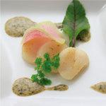 ハーバー ビレッジ - 北海道産ホタテの軽い炙り 海苔ソース