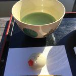 中島の御茶屋 - 上生菓子抹茶セット