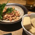 48014974 - 酢モツ、突き出しの高野豆腐