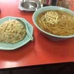 昇龍 - 味噌ラーメン 半炒飯 \850