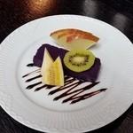 新都 - 紫芋の自家製蒸し羊羹
