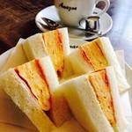 アマゾン - 玉子サンド+コーヒーセット(ハーフサイズ)