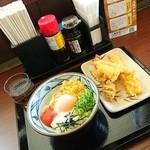 丸亀製麺 - 明太釜玉(並)410円  温玉にしました