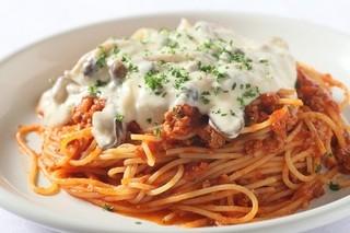 ラ・ベルデ - 【Pasta】とろ~りきのこクリームがけミートソース
