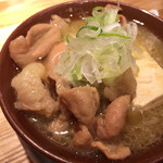 テング酒場 - もつ煮豆腐(煮玉子付)