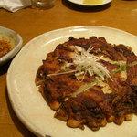 韓てら - 豚肉と玉葱のチヂミ♪