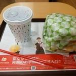 ロッテリア - 【2016.2.29(月)】ロッテリアタワーチーズバーガー(5段)+ドリンクS960円→750円