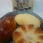 伊三郎製ぱん - 料理写真:食パン&メープルメロンパン、牛乳ぶれっど、クリームパン