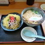末広すし - ばら寿司とうどんのセット 870円