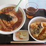 華葉軒 - 料理写真:天丼セット ¥880-