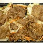 キッチンくりの木 - (日替り定食B)牛バラ肉ジュージュー焼定食 税込800円