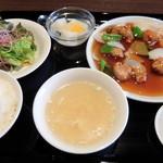アオヤマ - ランチ酢豚セット