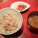 露瑚 - 〆ご飯は雑穀米
