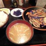 炭火焼鳥 くろちゃん - なす味噌定食2010/08