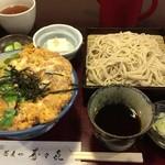 寿々喜 - 親子丼 + もりそば