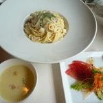 結 - パスタランチ サラダ スープ