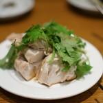 蔡菜食堂 - 蒸し鳥、パクチー