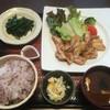 Ootoya - 料理写真:鶏の青柚子こしょう炭火焼き定食+ほうれん草の胡麻和え