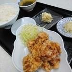 ハマムラ - 料理写真:から揚げ定食ご飯大盛り700円