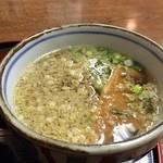 倭 - 揚げさんが入ったそば、麺も出汁も最高です