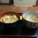 倭 - 他人丼と温かいミニそばのセット